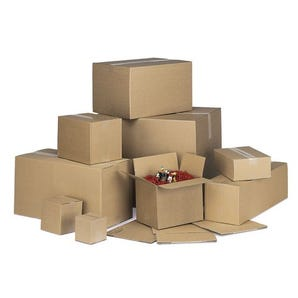 Single wall cartons, 203 x 203 x 203mm