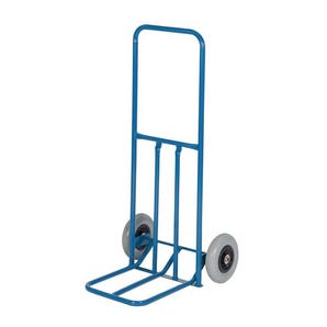 Fixed frame sack truck with straight frame