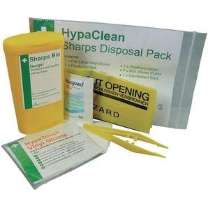 Single sharps disposal kit