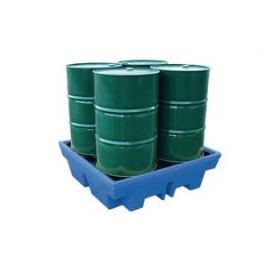 Polyethylene sump pallets - 4 drum capacity