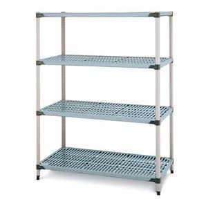 Metromax Q™ polymer shelving - 4 shelf unit- Starter bays