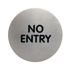 Stainless steel information door signs