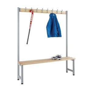 Probe round tube cloakroom bench unit -  single sided