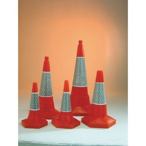 Traffic cones - 1000mm height, pack of 3