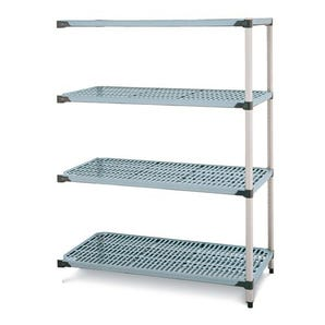 Metromax Q™ polymer shelving - 4 shelf add-on unit