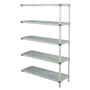 Metromax Q™ polymer shelving - 5 shelf add-on unit