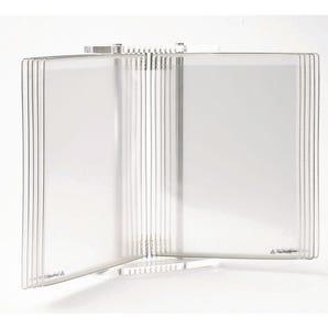 Tarifold reception - crystal line display system