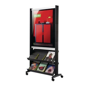 Poster presenter with two shelves - A1 panel and 6 x A4 pockets