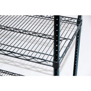Black anodised wire shelving - Extra shelves (2 pack)