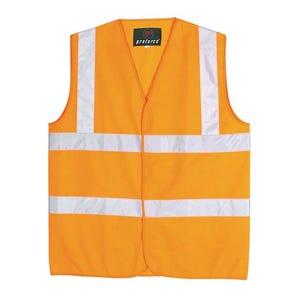 Hi visibility sleeveless waistcoats to BS EN471:1994