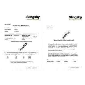 Multi-function environmental meter calibration certificate