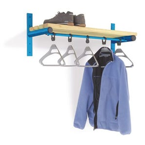 Probe wall mounted shelf and coat rail