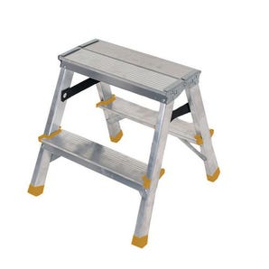 Double sided aluminium steps, 2 treads