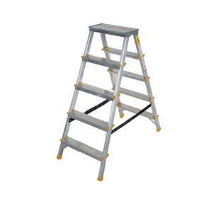 Double sided aluminium steps, 5 treads