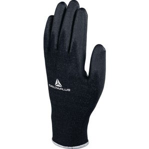 Black palm PU coated gloves