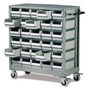 Premium steel trolley with ABS drawers