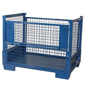 Heavy duty collapsible pallet cage