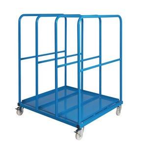 Mobile vertical sheet rack - dual access