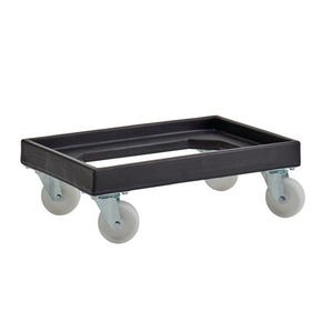 Recycled plastic dolly for stack/nest containers