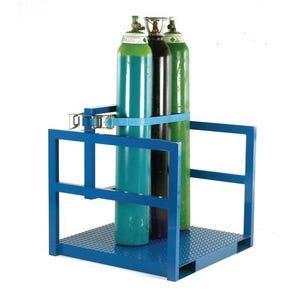 Heavy duty gas cylinder storage pallet