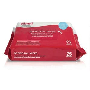 Clinell sporicidal cleaning wipes
