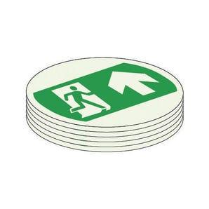 Photoluminescent floor trail safe marker dots