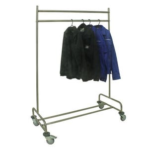 Stainless steel nesting coat rail
