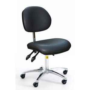 Low ESD clean room chair