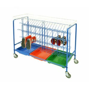 Mobile wellie boot trolley