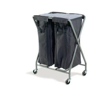 Folding linen trolleys