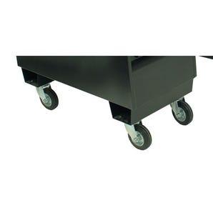 Optional castors for lockable tool storage boxes