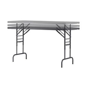 Lightweight height adjustable folding tables