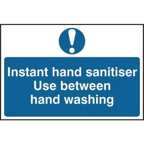 Instant hand sanitiser sign