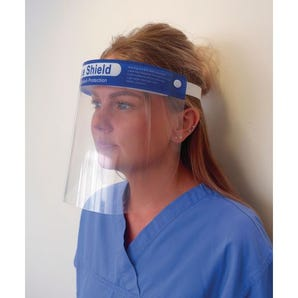 Reusable face shield with comfort foam - Pack 10