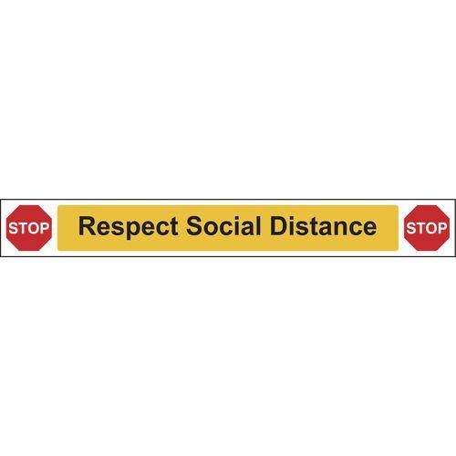 Respect social distance sign