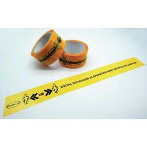 Printed social distancing tape