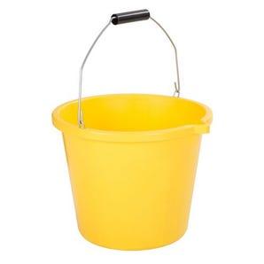 13L Yellow Builder's Bucket