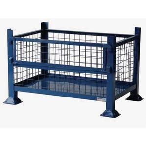 Half-gate cage pallet