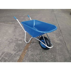 Heavy duty 100 litre plastic pan wheelbarrow