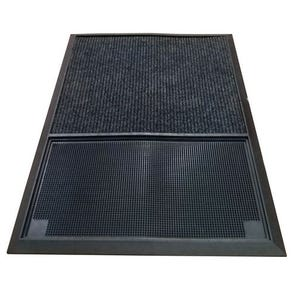 Sanitising foot bath with in-built drying mat