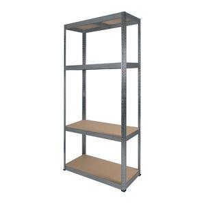 RB BOSS Galvanised botless shelving with MDF shelves - 175kg per shelf