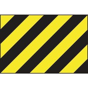 Black & yellow warning panel sign