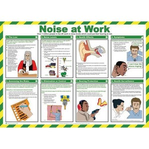 Noise at work sign