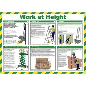 Work at height sign