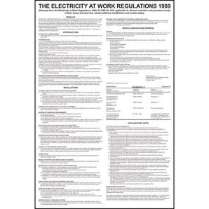 Electricity at work regulations sign