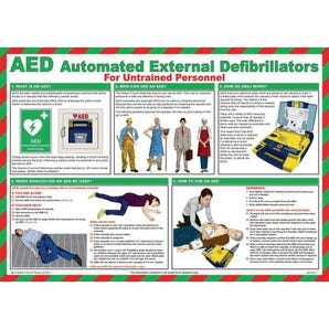 Aed automated external defibrillators sign