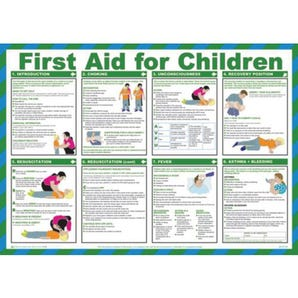 First aid for children sign