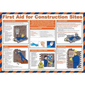First aid for construction sites sign