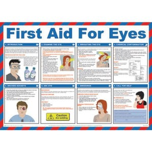 First aid for eyes sign