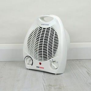Upright fan heater/cooler